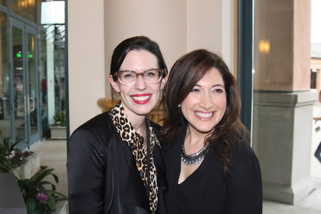 Lauren Gunderson with Randi Zuckerberg