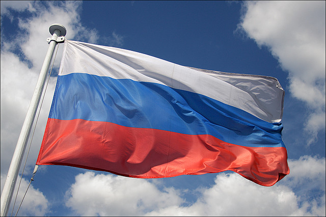Photo of Russian flag courtesy of Supermonkee