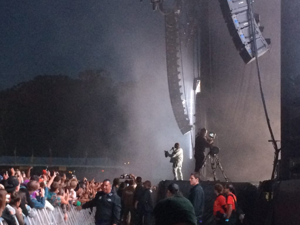 Kanye West at Outside Lands Photo By Mira Veda
