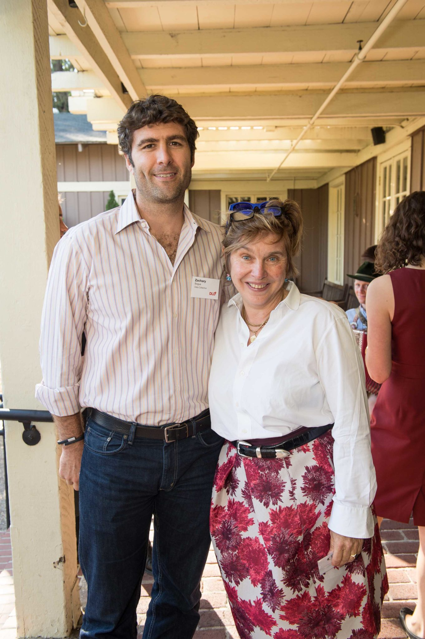 Entrepreneur & VC Zachary Bogue and Founder of DLD Steffi Czerny.Photos Courtesy of Drew Altizer.
