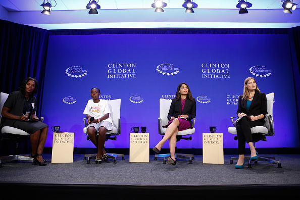 Actress and Producer of Girl Rising, Freida Pinto takes part in a panel discussion at The Future of Girl's Education session during the fourth day of the 2015 Clinton Global Initiative's Annual Meeting (Photo by JP Yim/Getty Images)