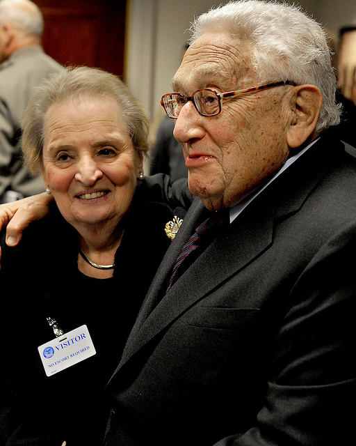 Albright and Kissinger, Courtesy of the United States Department of Defense