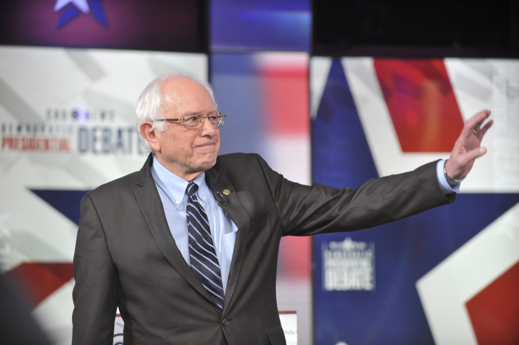 Sen. Bernie Sanders at the CBS News Democratic Presidential Debate at Drake University Des Moines, Iowa on Saturday, November 14, 2015 on the CBS Television Network. Photo: Chris Usher/CBS  © 2015 CBS Television Network. All Rights Reserved.
