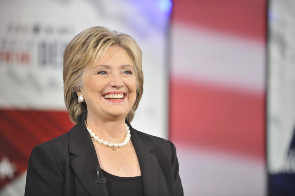 Former U.S. Secretary of State Hillary Clinton at the CBS News Democratic Presidential Debate at Drake University Des Moines, Iowa on Saturday, November 14, 2015 on the CBS Television Network. Photo: Chris Usher/CBS © 2015 CBS Television Network. All Rights Reserved.