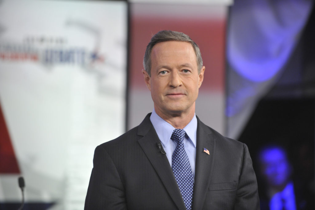 Former Maryland Governor Martin O'Malley at the CBS News Democratic Presidential Debate at Drake University Des Moines, Iowa on Saturday, November 14, 2015 on the CBS Television Network. Photo: Chris Usher/CBS  © 2015 CBS Television Network. All Rights Reserved.