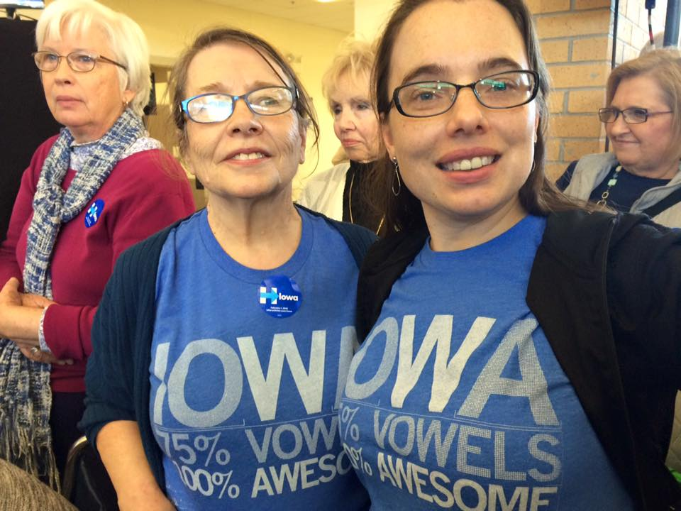 At a Hillary rally on Sunday. Photo courtesy of Katrina Markel