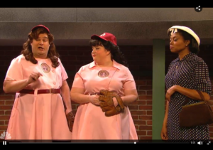 """A League of Their Own"" SNL Parody Takes on Sexism and Racism"