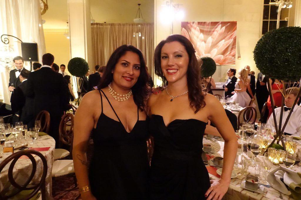 Mira Veda and Sarah Fenn at SF Symphony Gala Opening Night. Photo credit Mira Veda