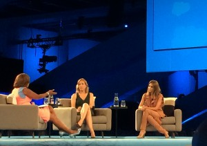 Gayle King interviews Jessica Alba and Susan Wojcicki at Dreamforce in San Francisco. Photo  credit Mira Veda