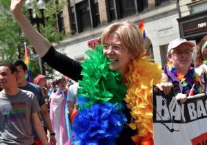 Elizabeth Warren Dances Her Way Through Pride